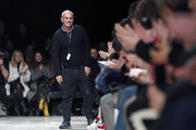 Italian designer Alessandro DellÕAcqua acknowledges the audience after presenting his Fall/Winter 2017/18 Ready to Wear collection for Rochas fashion house, during the Paris Fashion Week on March 01, 2017in Paris, France.