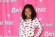 "Actress Laya DeLeon Hayes attends Rock Your Hair presents: ""Valentine's Rocks"" at The Avalon Hotel on February 11, 2017 in Los Angeles, California."