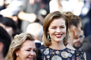 """Eva Herzigova and Caroline Scheufele attend the screening of """"Rocket Man"""" during the 72nd annual Cannes Film Festival on May 16, 2019 in Cannes, France."""