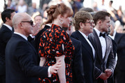 "(L-R) Bernie Taupin, Bryce Dallas Howard, Kit Connor, Sir Elton John and Taron Egerton attend the screening of ""Rocket Man"" during the 72nd annual Cannes Film Festival on May 16, 2019 in Cannes, France."