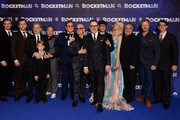 "(L-R)  Richard Madden, Taron Egerton, Dexter Fletcher, Kit Connor, Stephen Graham, Elton John, Bernie Taupin, David Furnish Matthew Vaughn, Claudia Shiffer, Jim Gianopulos, Adam Bohling and Wyck Godfrey  attend the ""Rocketman"" UK Premiere at Odeon Leicester Square on May 20, 2019 in London, United Kingdom. (Photo by Jeff Spicer/Getty Images for Paramount Pictures) attends the ""Rocketman"" UK Premiere at Odeon Leicester Square on May 20, 2019 in London, United Kingdom."