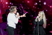 Rod Stewart and Stevie Nicks perform at Madison Square Garden on March 26, 2011 in New York City.