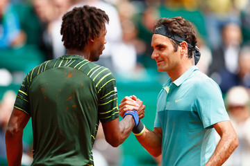 Roger Federer Gael Monfils ATP Masters Series: Monte Carlo Rolex Masters - Day Five