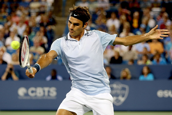 Roger+Federer+Western+Southern+Open+Day+