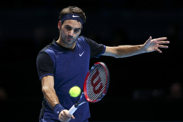 Roger Federer Barclays ATP World Tour Finals - Day Three