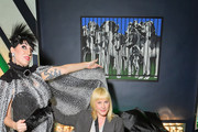 (L-R) Rossy de Palma and Patricia Arquette attend the Day Dream Vivier Press Day during Paris Fashion Week Womenswear Fall/Winter 2019/2020 at Fondation Cino et Simone del Duca on February 28, 2019 in Paris, France.