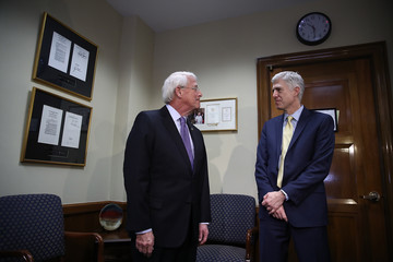 Roger Wicker Supreme Court Nominee Neil Gorsuch Meets With Senators On Capitol Hill