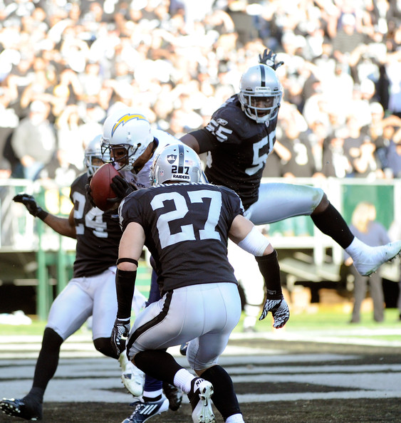 Rolando McClain - San Diego Chargers v Oakland Raiders