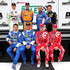Jamie McMurray Sage Karam Photos - A group photo of the Chip Ganassi Racing with Felix Sabates team drivers (standing l-r) Sage Karam, Charlie Kimball, Tony Kanaan, Jamie McMurray, sitting (l-r) Scott Pruett, Joey Hand, Scott Dixon and Kyle Larson during practice for The Rolex 24 at Daytona at Daytona International Speedway on January 23, 2015 in Daytona Beach, Florida. - Rolex 24 Practice and Qualifying