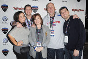 (L-R) TV personalities Chris Manzo, Caroline Manzo and the Manzo family from Real Housewives of New Jersey attend The Rolling Stone Volkswagen Rock & Roll Fan Tailgate Party at The Crane Bay on February 5, 2012 in Indianapolis, Indiana.