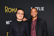 """Max Tsai (L) and Cuba Gooding Jr attend the """"Roma"""" New York screening at DGA Theater on November 27, 2018 in New York City."""