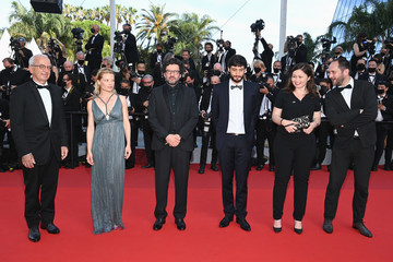 """Romain Cogitor Audrey Abiven """"Annette"""" & Opening Ceremony Red Carpet - The 74th Annual Cannes Film Festival"""