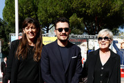 Fabia Bettini, Orlando Bloom and Piera Detassis walk a red carpet for 'Romans' during the 12th Rome Film Fest at Auditorium Parco Della Musica on November 4, 2017 in Rome, Italy.