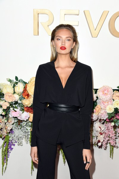 3rd Annual #REVOLVEawards - Arrivals [clothing,fashion,pantsuit,beauty,suit,dress,fashion model,shoulder,formal wear,haute couture,revolveawards - arrivals,revolveawards,hollywood,california,romee strijd,goya studios]