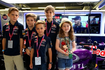 Romeo Beckham F1 Grand Prix of Great Britain