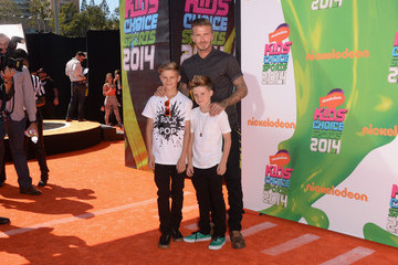 Romeo Beckham Arrivals at the Nickelodeon Kids' Choice Sports Awards