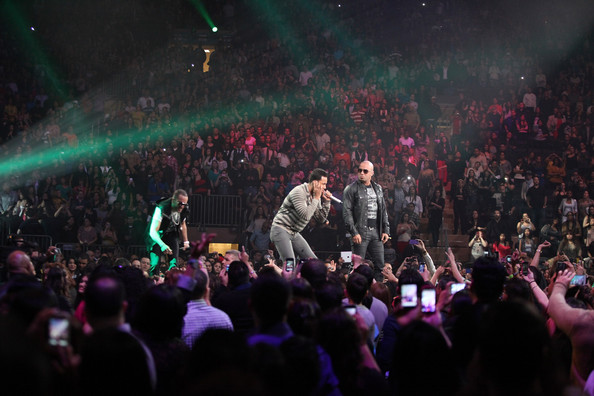 Yandel in Romeo Santos And Special Guests In Concert At Madison