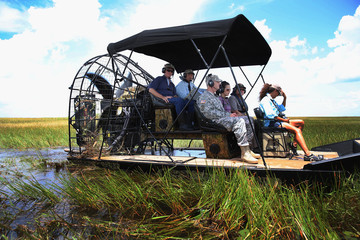 Ron Bergeron Bill Nelson Takes Airboat Tour of Flooded Everglades