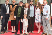 (L-R) Seth Gabel, Bryce Dallas Howard, Director Ron Howard, Cheryl Howard, Reed Cross Howard (R) and family attend Ron Howard's star ceremony on the Hollywood Walk of Fame on December 10, 2015 in Hollywood, California.
