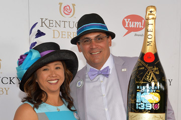 Ron Rivera Stephanie Rivera Moet & Chandon Toasts The 139th Kentucky Derby - Day 2