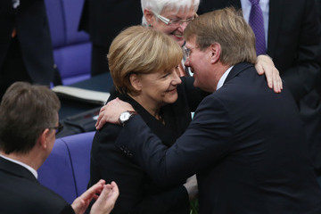 Ronald Pofalla Bundestag Swears in Germany's New Coalition Government