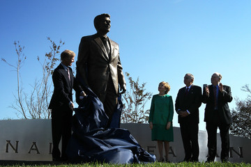 Frederick Ryan Ronald Reagan Statue Unveiled At Reagan International Airport