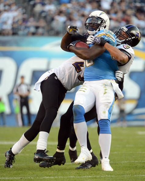 San Diego Chargers Baltimore Ravens: Ronnie Brown And Cary Williams Photos Photos