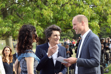 Ronnie Wood The Duke Of Cambridge Attends 'The Tusk Rhino Trail' Celebration