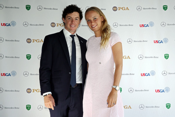 Caroline Wozniacki and Rory McIlroy - The Masters Preview: Day 3