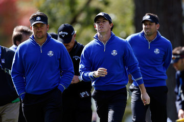 Rory McIlroy Graeme McDowell Ryder Cup - Preview Day 3