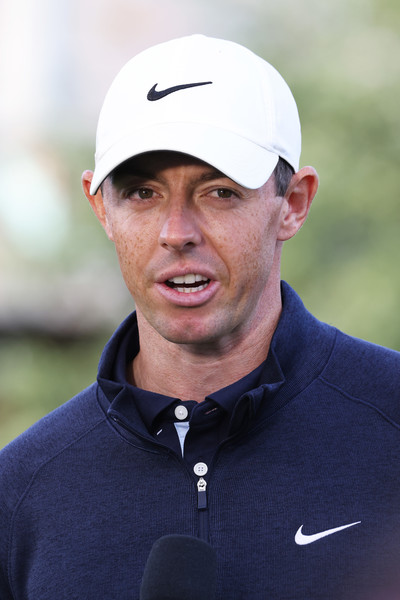 U.S. Open - Preview Day 2 [cap,recreation,headgear,golf,coach,outerwear,rory mcilroy,player,media,headgear,recreation,northern ireland,u.s. open,practice round,u.s. open championship,outerwear,headgear,player,recreation,capital asset pricing model]