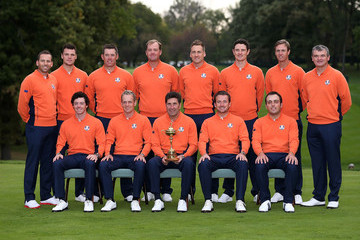 Rory McIlroy Paul Lawrie Ryder Cup - Preview Day 2