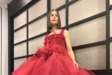 Rosamund Pike Celebrities Get Ready For The 2021 Golden Globe Awards