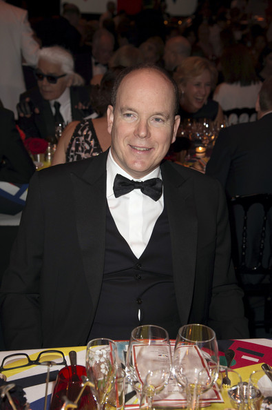 (VOICI, CLOSER, FRANCE DIMANCHE, ICI PARIS, ENTREVUE & PUBLIC OUT FOR FRANCE) (TABLOID OUT) Prince Albert II of Monaco attends the Rose Ball 2014 in aid of the Princess Grace Foundation at Sporting Monte-Carlo on March 29, 2014 in Monte-Carlo, Monaco.