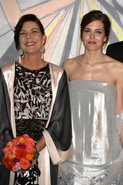Princess Caroline of Hanover and Charlotte Casiraghi attend the Rose Ball 2014 in aid of the Princess Grace Foundation at Sporting Monte-Carlo on March 29, 2014 in Monte-Carlo, Monaco.