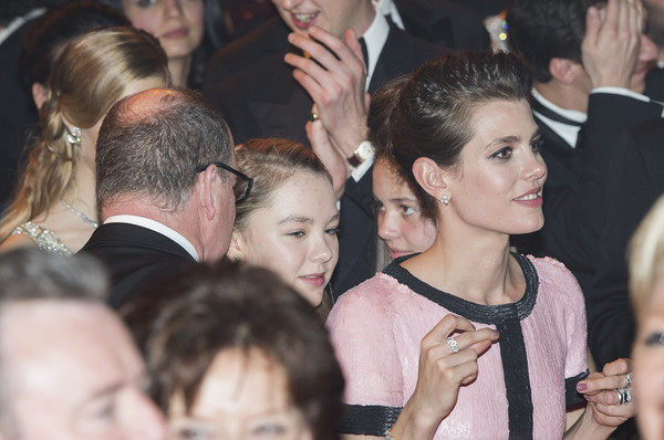 (TABLOIDS OUT)  Charlotte Casiraghi and Prince Albert II of Monaco attend the Rose Ball 2015 in aid of the Princess Grace Foundation at Sporting Monte-Carlo on March 28, 2015 in Monte-Carlo, Monaco.