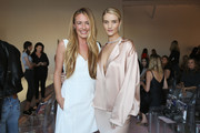 Cat Deeley and Rosie Huntington-Whiteley attend Rose Inc. + bareMinerals Beauty Master Class at Goya Studios on October 26, 2018 in Los Angeles, California.