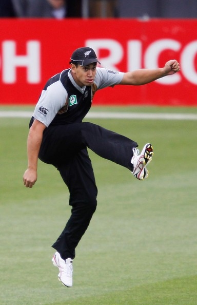 Ross Taylor Of New Zealand Celebrates After Catching