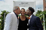 George Carrancho, Sean Franklin  and Wilson Cruz at the D.C. Capital Pride Parade For Marriott International's #LoveTravels Campaign on June 13, 2015 in Washington, DC.