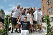 Ross Mathews, George Carrancho, Sean Franklin  and members of Marriott International at D.C. Capital Pride Parade For Marriott International's #LoveTravels Campaign on June 13, 2015 in Washington, DC.