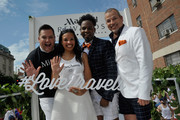 Ross Mathews, George Carrancho, Sean Franklin  and Cherilyn Williams at D.C. Capital Pride Parade For Marriott International's #LoveTravels Campaign on June 13, 2015 in Washington, DC.