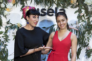 Spanish actresses Rosy de Palma (L) and Hiba Abouk (R) present the 'Comment Tu T'appelles' fashion film at Sala Equis cinema on May 9, 2018 in Madrid, Spain.