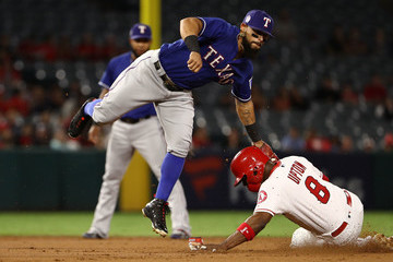 Rougned Odor Texas Rangers vs. Los Angeles Angels Of Anaheim