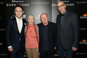 Roy Conli Dr. Jane Goodall, Director Lu Chuan and Producers Roy Conli and Brian Leith Arrive at the New York Premeire of Disneynature's 'Born in China'