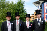 (L-R) Nigel Barker, Ryan Barker, Joshua Barker and Adam Barker attend day four of Royal Ascot 2014 at Ascot Racecourse on June 20, 2014 in Ascot, England.