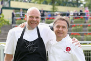 Chefs Tom Kerridge and Raymond Blanc during day three of Royal Ascot at Ascot Racecourse on June 19, 2014 in Ascot, England.