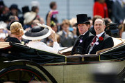 AP McCoy and Richard Thompson arrive during Royal Ascot 2015 at Ascot racecourse on June 19, 2015 in Ascot, England.