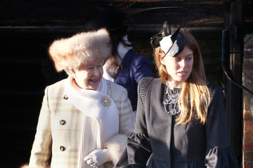 Queen Elizabeth II Princess Beatrice The Royal Family Attend Their Traditional Christmas Day Church Service