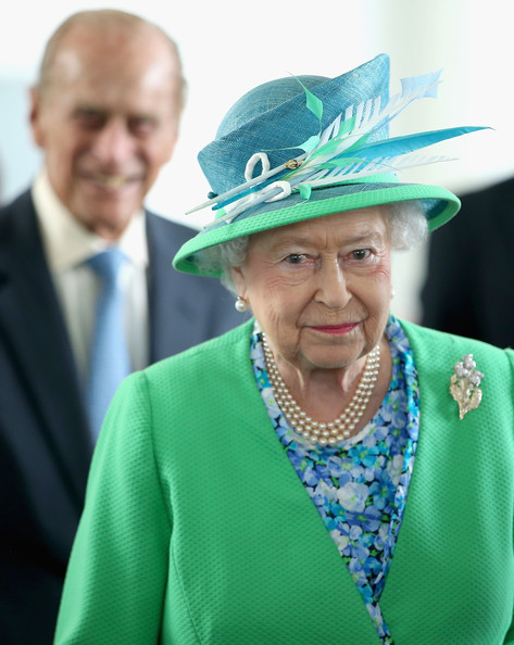 Queen Elizabeth II and Prince Phillip, Duke of Edinburgh visit the Glasgow National Hockey Centre to watch the hockey during day one of 20th Commonwealth Games on July 24, 2014 in Glasgow, Scotland.