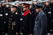 (L-R) Prince Andrew, Duke of York, Prince Harry and Prince William, Duke of Cambridge attend the annual Remembrance Sunday memorial on November 12, 2017 in London, England.  The Prince of Wales, senior politicians, including the British Prime Minister and representatives from the armed forces pay tribute to those who have suffered or died at war.